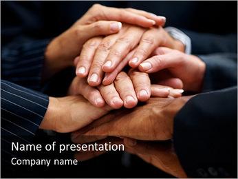 Teambuilding Gesture PowerPoint Template