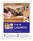 Schoolchildren Sitting In Classroom Flyer Templates