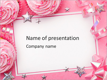 Birthday Greeting Card Powerpoint Template Backgrounds Google