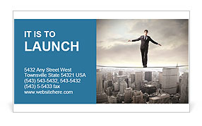 Businessman Risk Manadgment Business Card Template