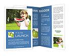 Girl Eats Watermelon Brochure Templates