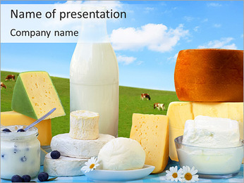 Healthy Milk Products PowerPoint Template