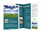 Cows At The Field Brochure Templates