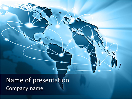 international communication powerpoint template & backgrounds id, Modern powerpoint