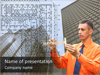 Architect at Work PowerPoint Template