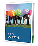 Young People Under Umbrellas Presentation Folder