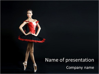 Professional Woman Dancer PowerPoint Template