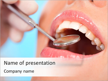 Dentist At Work PowerPoint Template