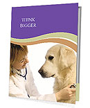 Dog At Vet Clinic Presentation Folder
