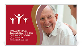 Doctor With Retired Man Business Card Template
