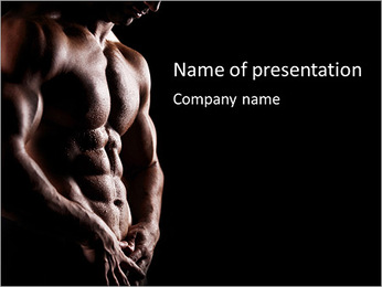 Handsome Male Model Plantillas de Presentaciones PowerPoint