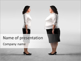Problem Of Extra Weight PowerPoint Template