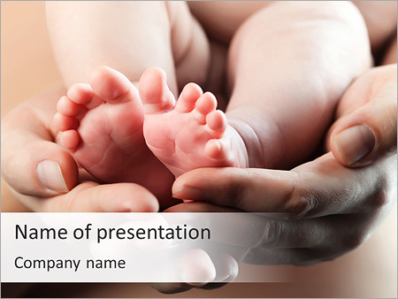 Pediatrics powerpoint template smiletemplates cute baby feet powerpoint templates toneelgroepblik Images