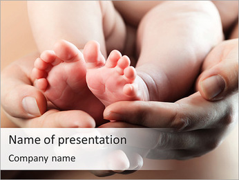 Cute Baby Feet PowerPoint Template