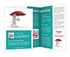 Man Under Red Umbrella Brochure Template