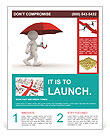 Man Under Red Umbrella Flyer Template
