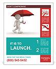 Man Under Red Umbrella Poster Template
