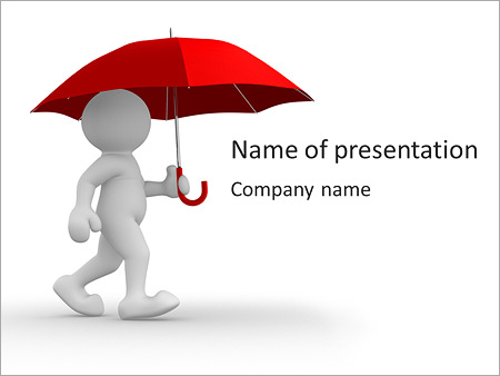 Man under red umbrella powerpoint template backgrounds id man under red umbrella powerpoint templates toneelgroepblik Images