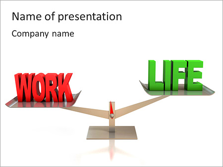 Balance Between Life And Work PowerPoint Template
