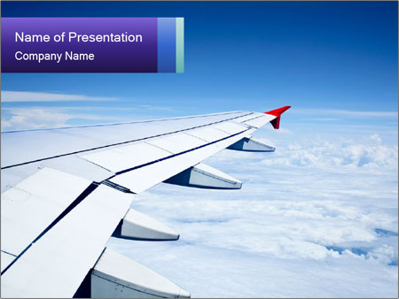 airplane wing powerpoint template & backgrounds id 0000030022, Modern powerpoint