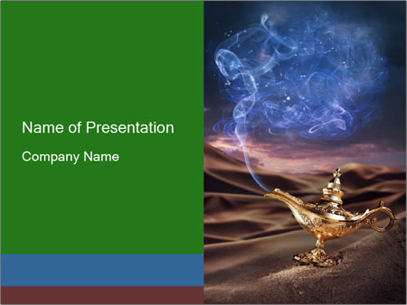 Fairy Tail About Aladdin Lamp Powerpoint Template Backgrounds Id