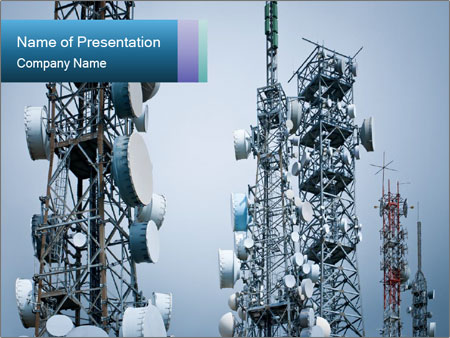 City telecommunication towers powerpoint template backgrounds id city telecommunication towers powerpoint template toneelgroepblik Images