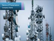 City Telecommunication Towers Sjablonen PowerPoint presentatie