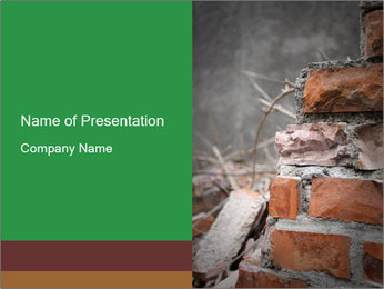 Damaged House Wall PowerPoint Template