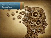 Mechanism Instead of Brain PowerPoint Templates