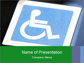 Disabled Icon PowerPoint Template