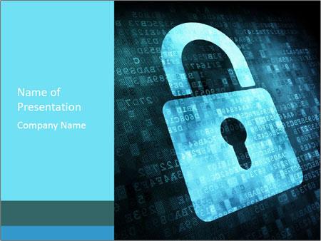 Digital data lock powerpoint template backgrounds id 0000030151 digital data lock powerpoint template toneelgroepblik Choice Image