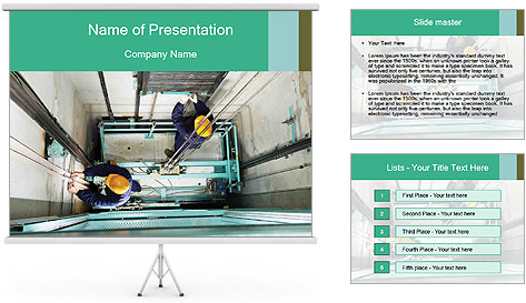 Elevator Repair PowerPoint Template & Backgrounds ID 0000030201 ...