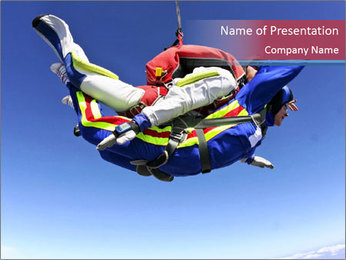 Parachuting is Fun PowerPoint Template