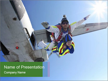 Man Parachuting PowerPoint Template