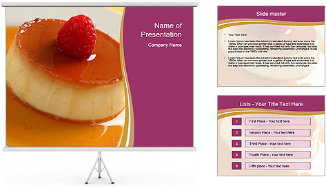 caramel dessert powerpoint template amp backgrounds id