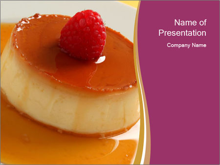 caramel dessert sjablonen powerpoint presentatie