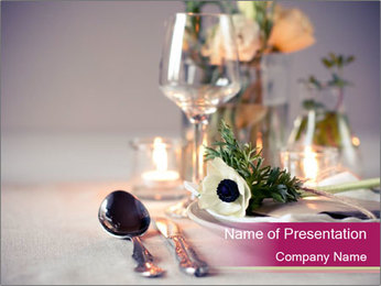 Festive Table Decor PowerPoint Template