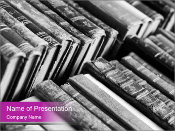 Antique Books PowerPoint Template