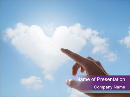 Heart Shapes Cloud Powerpoint Template Backgrounds Id 0000030336