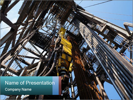 Oil drilling rig powerpoint template backgrounds id 0000030349 oil drilling rig powerpoint template toneelgroepblik Images