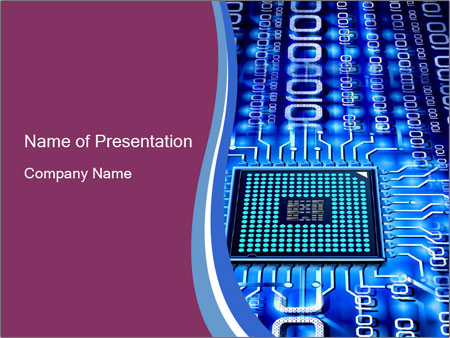 Electronic chip powerpoint template backgrounds id 0000030353 electronic chip powerpoint template toneelgroepblik Choice Image