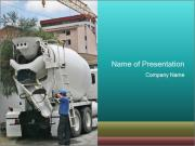 New Cement Mixer Machine Modelos de apresentações PowerPoint
