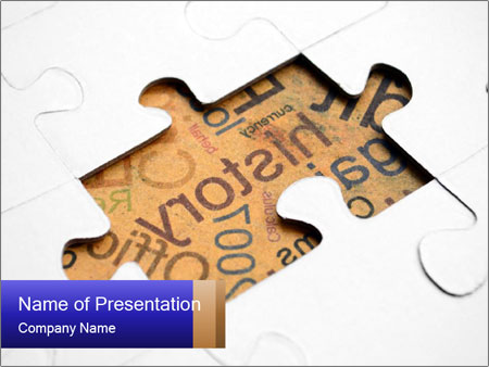 Missing part of history puzzle powerpoint template backgrounds missing part of history puzzle powerpoint template toneelgroepblik Images