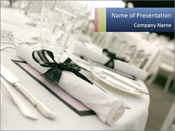 Wedding Table Setting PowerPoint Template