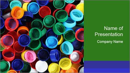 bottle caps production powerpoint template backgrounds google