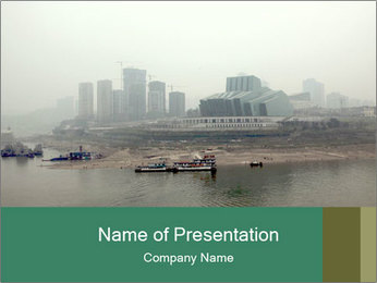 Asian Polluted City PowerPoint Template