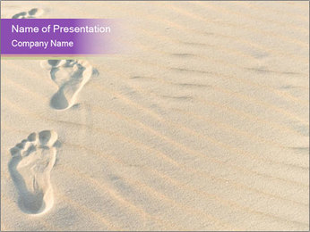 Human Foot Prints PowerPoint Template