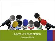 International Press Conference PowerPoint Templates