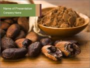 Cocoa Beans and Powder PowerPoint Templates