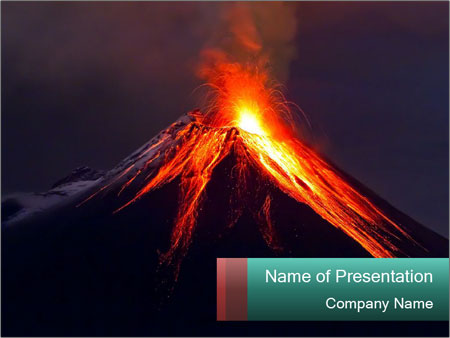 impressive volcano powerpoint template & backgrounds id 0000030516, Modern powerpoint